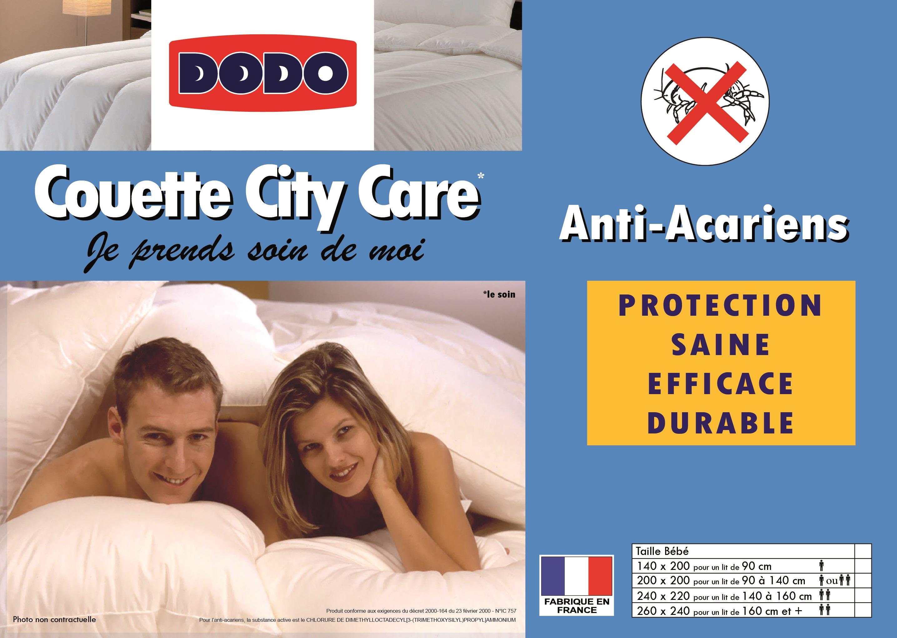 Couette city care dodo - Couette dodo anti acarien ...