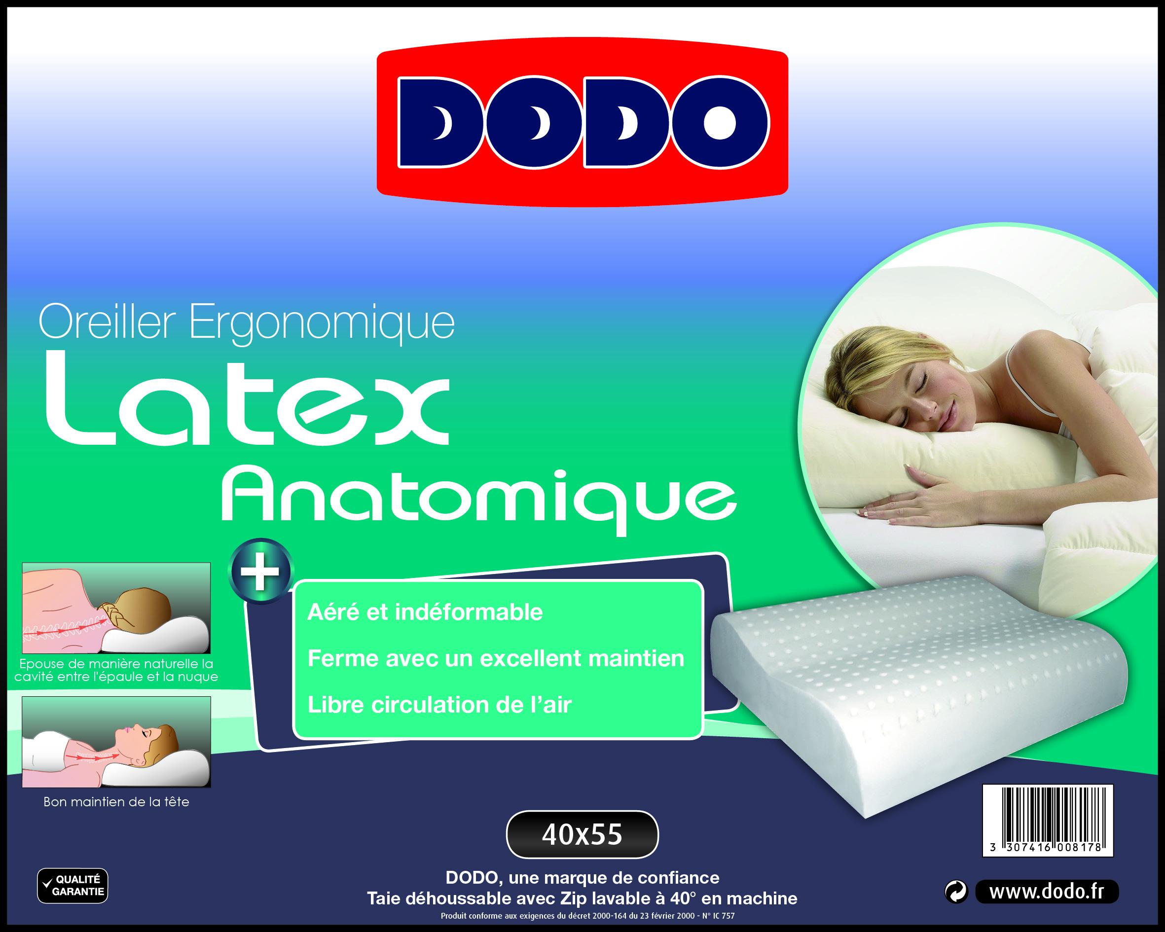 oreiller en latex dodo Oreiller ergonomique oreiller en latex dodo