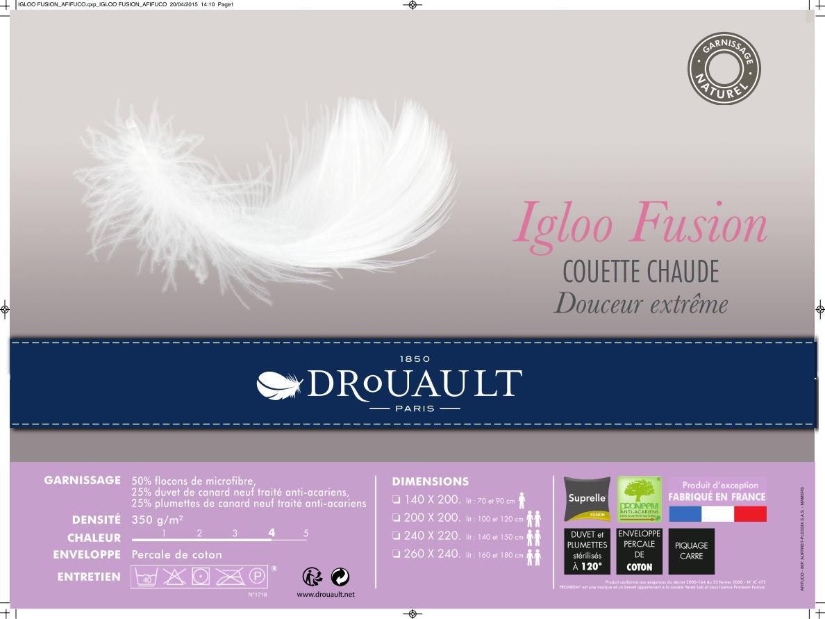 couette duvet drouault IGLOO FUSION AFIFUCO BD page 001