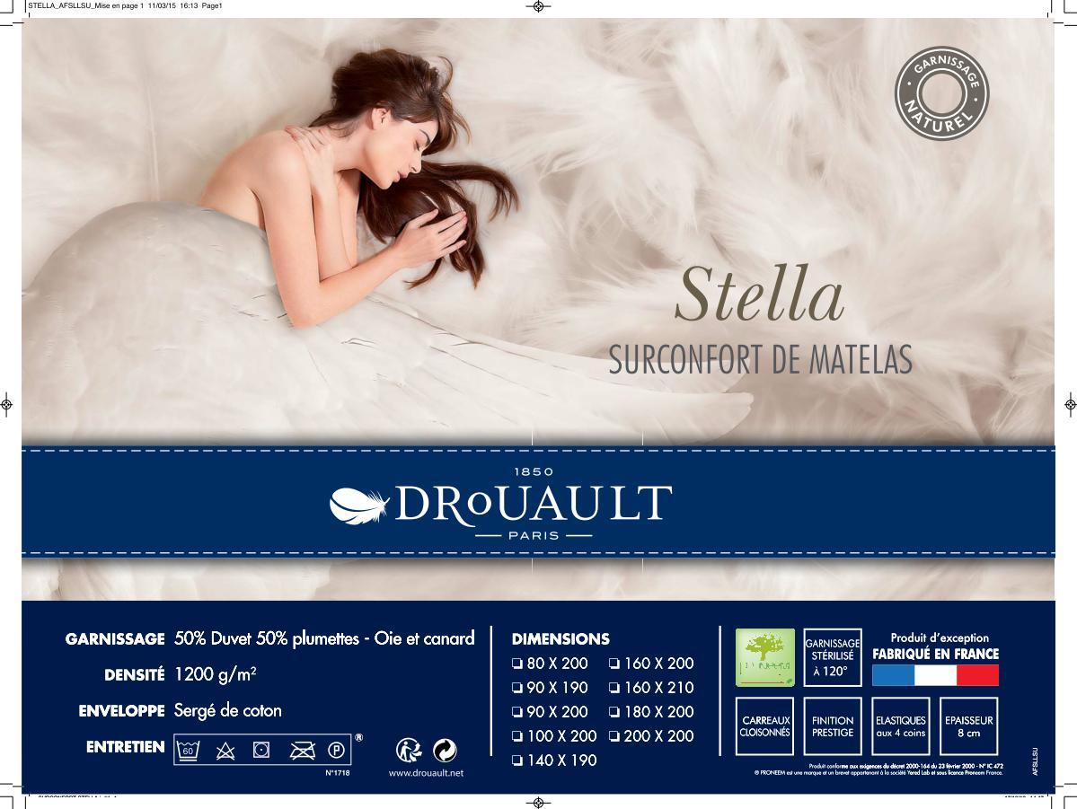 Surconfort de matelas stella drouault - Surconfort de matelas luxe dodo ...