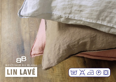 housse de couette 240x220 lin lav. Black Bedroom Furniture Sets. Home Design Ideas