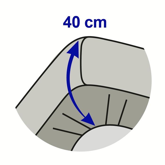 prot ge matelas coton gratt 400g m bonnet 40 cm. Black Bedroom Furniture Sets. Home Design Ideas