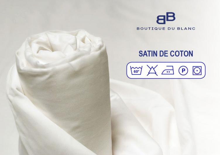Drap housse 160x200 grand bonnet 40cm satin de coton