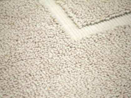 tapis de bain contour WC ou lavabo - 1500gr/m2